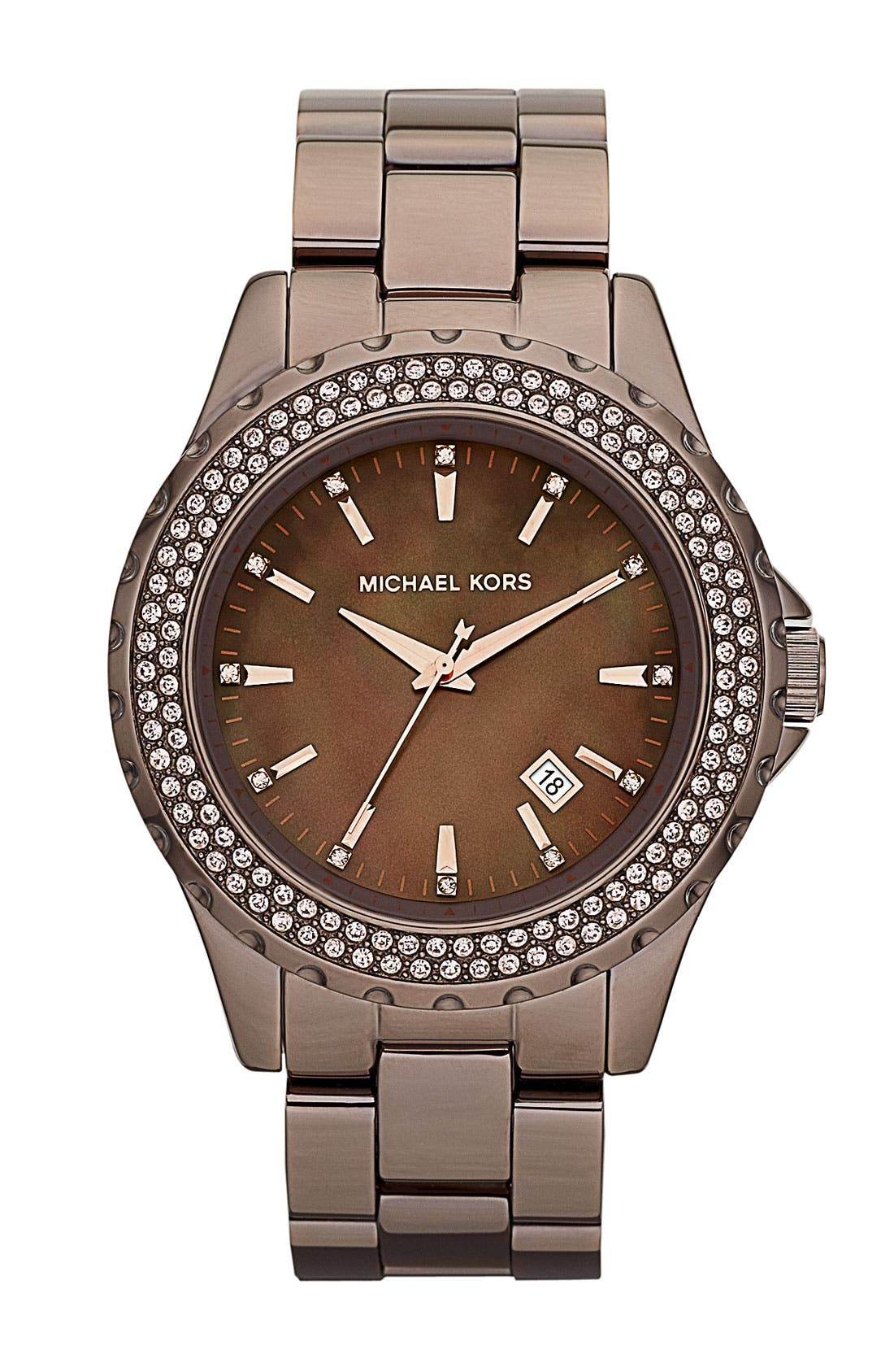 Main Image - Michael Kors 'Madison' Round Bracelet Watch, 41mm