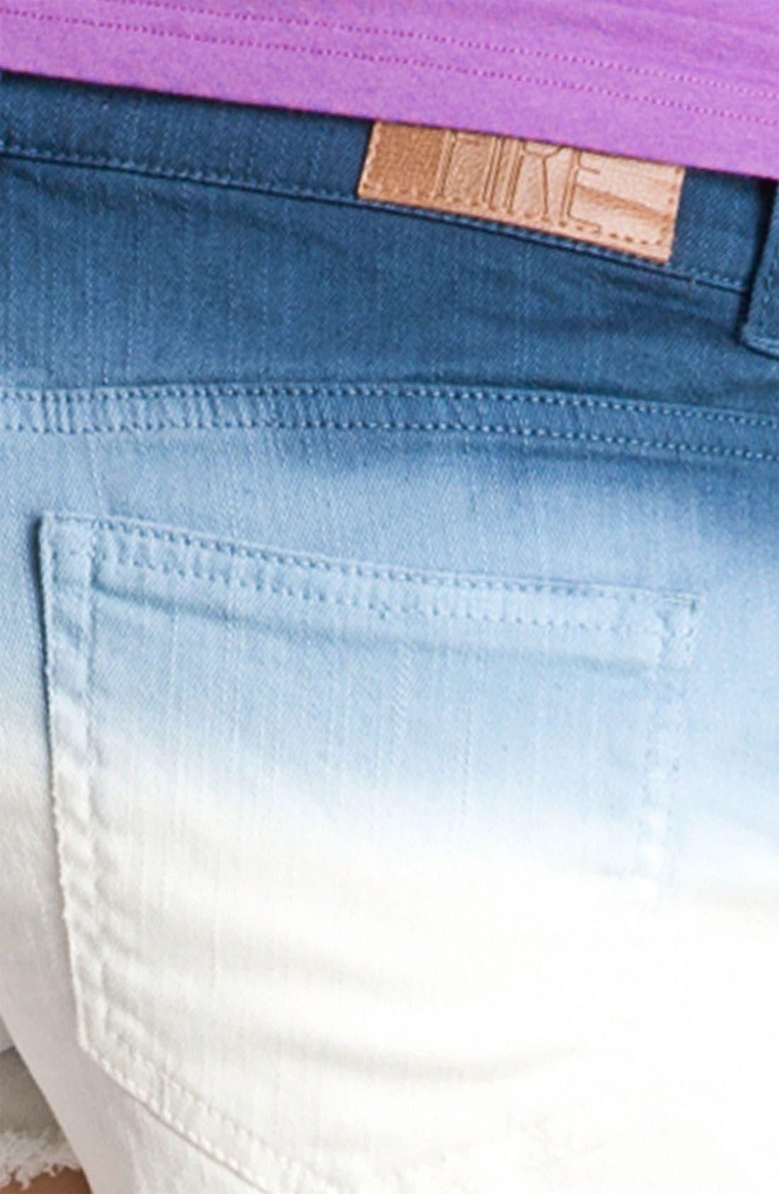 Alternate Image 3  - Fire Dip Dyed Cutoff Denim Shorts (Juniors)