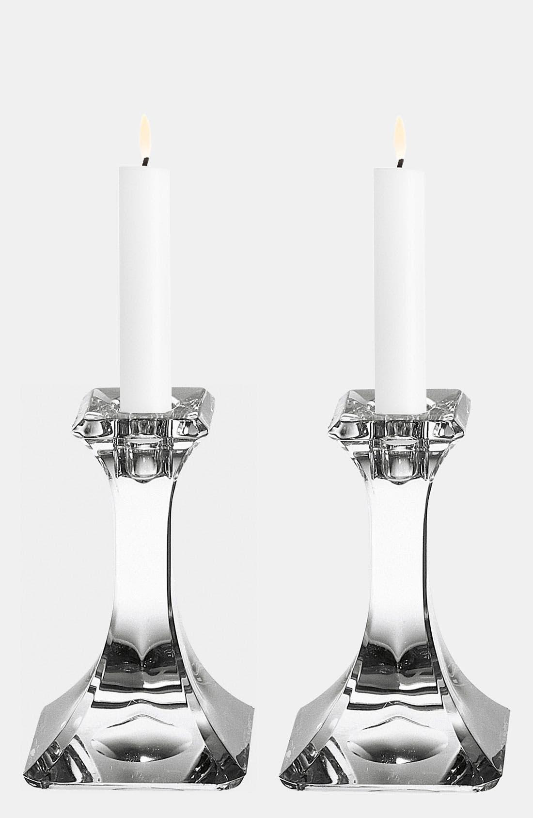 Main Image - Orrefors 'Regina' Candlesticks (Set of 2)