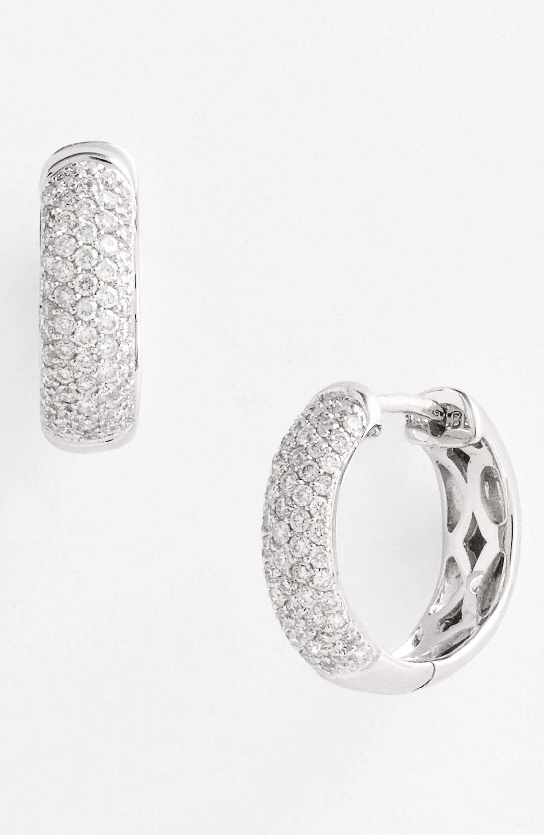 Alternate Image 1 Selected - Bony Levy 5-Row Pavé Diamond Hoop Earrings (Nordstrom Exclusive)