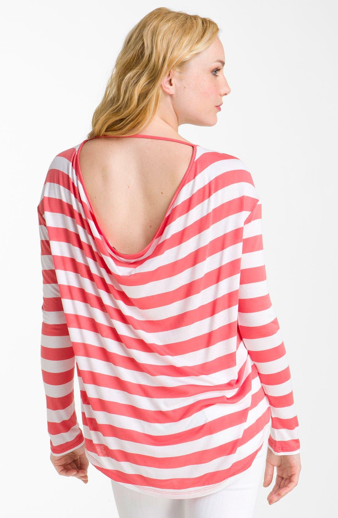 Alternate Image 2  - Current Affair Drape Back Stripe Tee
