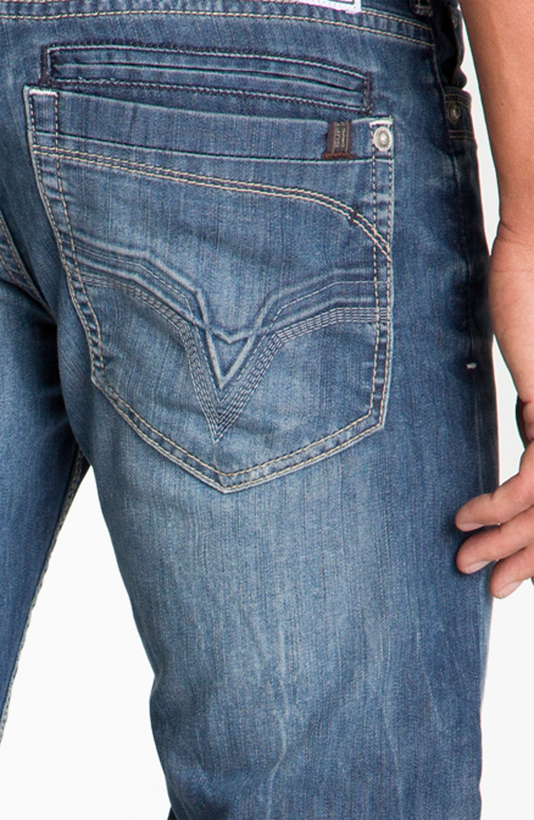 Alternate Image 4  - Buffalo Jeans 'Dixel' Straight Leg Jeans (Aged & Distressed Wash)