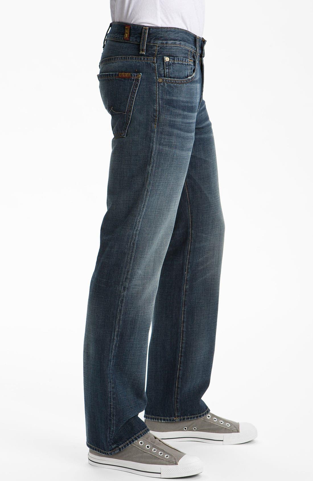 Alternate Image 3  - 7 For All Mankind® 'Austyn' Relaxed Straight Leg Jeans (California Dusk)