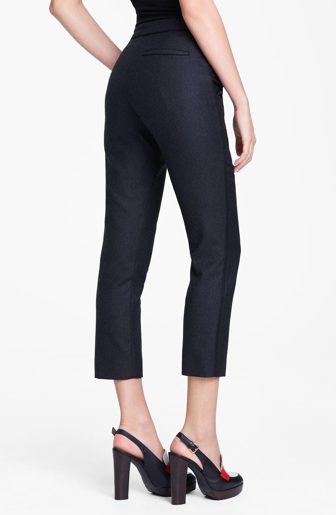 Alternate Image 2  - Marni Edition Crop Straight Leg Flannel Trousers