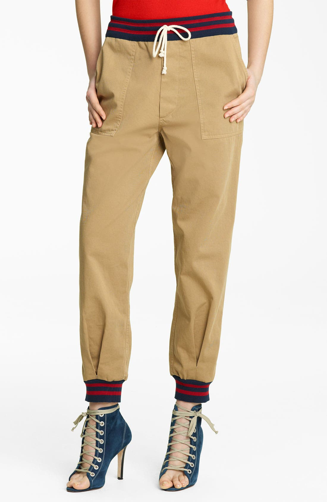 Alternate Image 1 Selected - Band of Outsiders Twill Pants