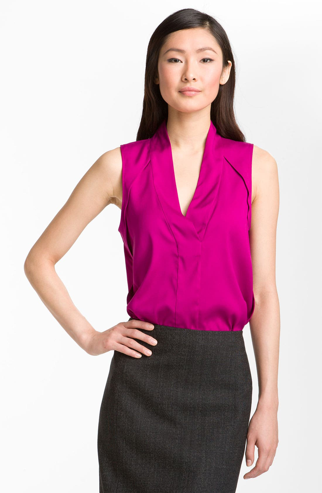 Alternate Image 1 Selected - Theory 'Moha - Elegance' Silk Top