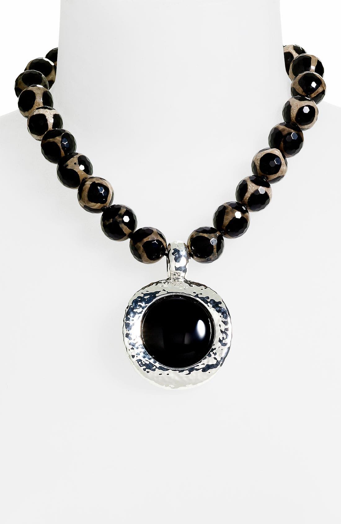 Alternate Image 1 Selected - Simon Sebbag Large Stone Pendant Necklace