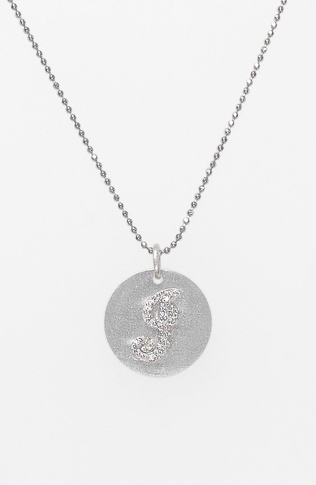 Main Image - Bony Levy Diamond Initial Pendant Necklace (Nordstrom Exclusive)