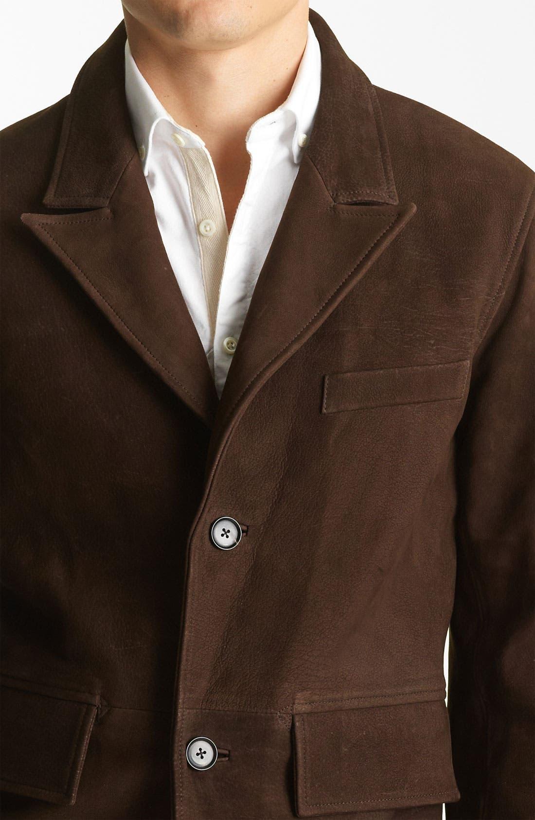 Alternate Image 3  - Billy Reid 'Washed Polk' Leather Blazer
