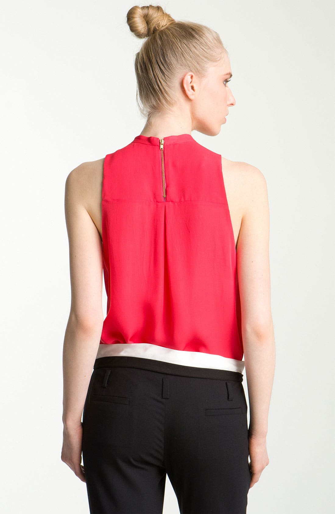 Alternate Image 2  - A.L.C. Cutout Silk Blouse
