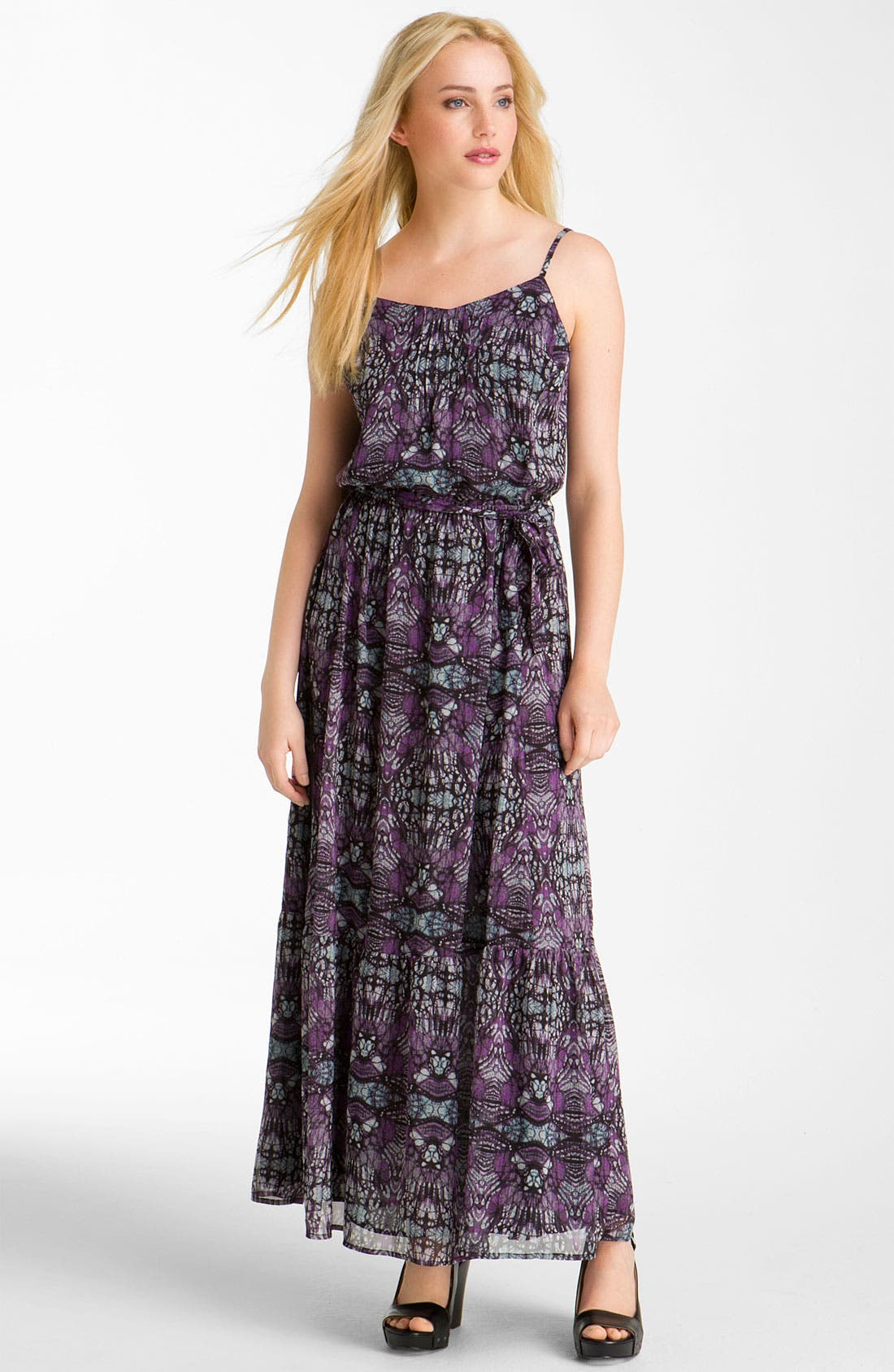 Alternate Image 1 Selected - Caslon® Pintuck Chiffon Maxi Dress