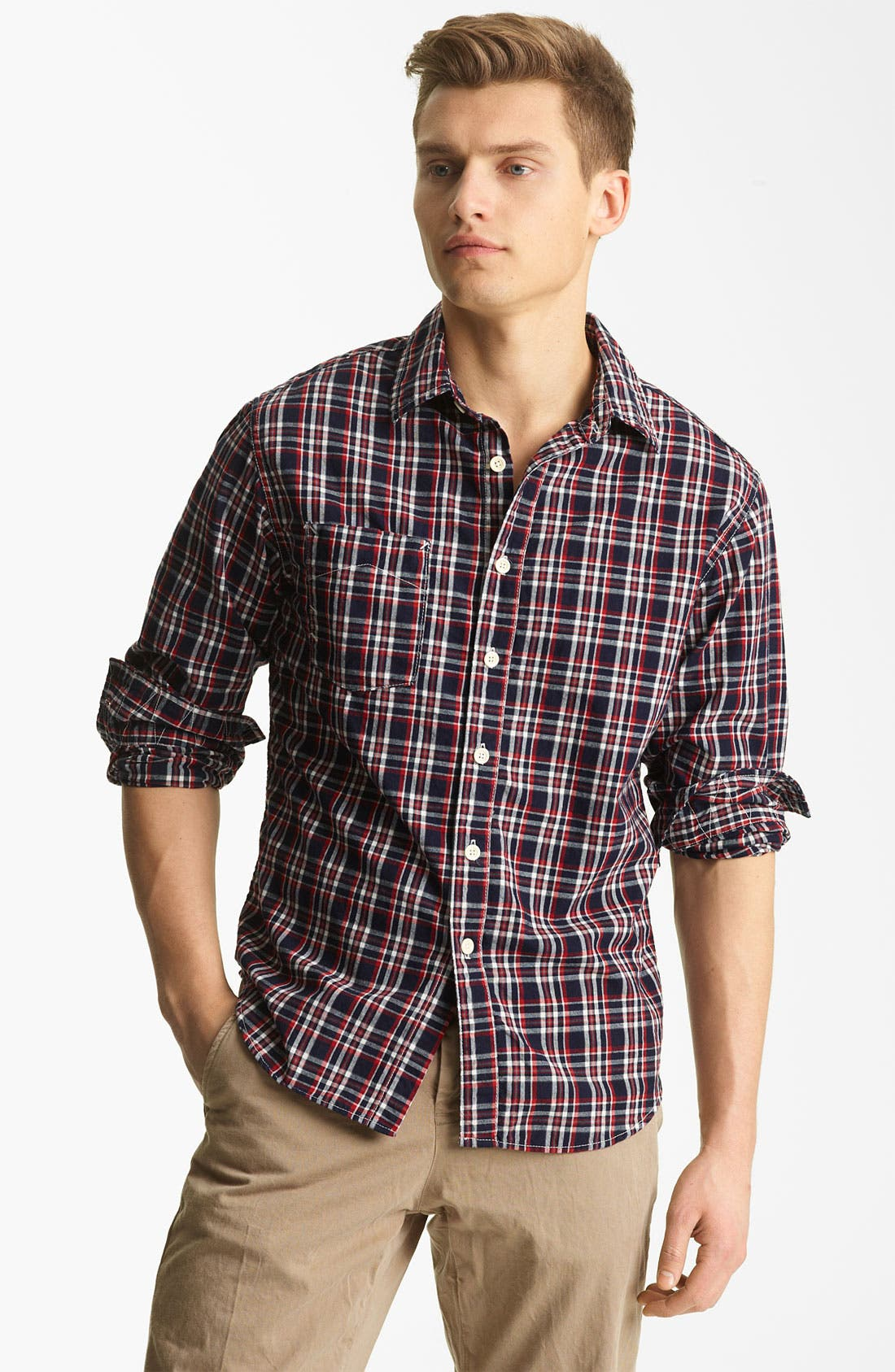 Alternate Image 1 Selected - Billy Reid 'Elkins' Plaid Woven Shirt