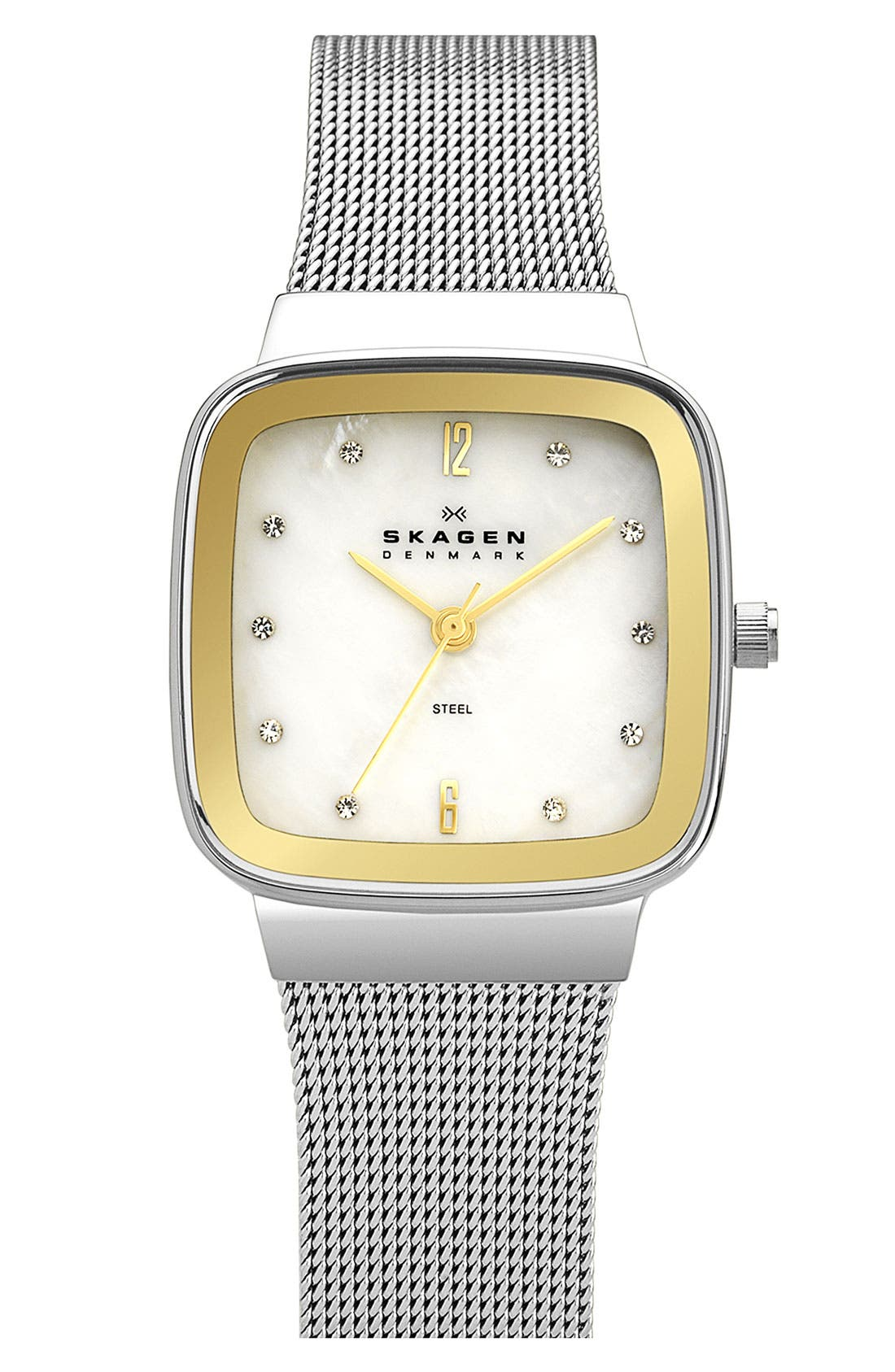 Alternate Image 1 Selected - Skagen Square Mesh Strap Watch