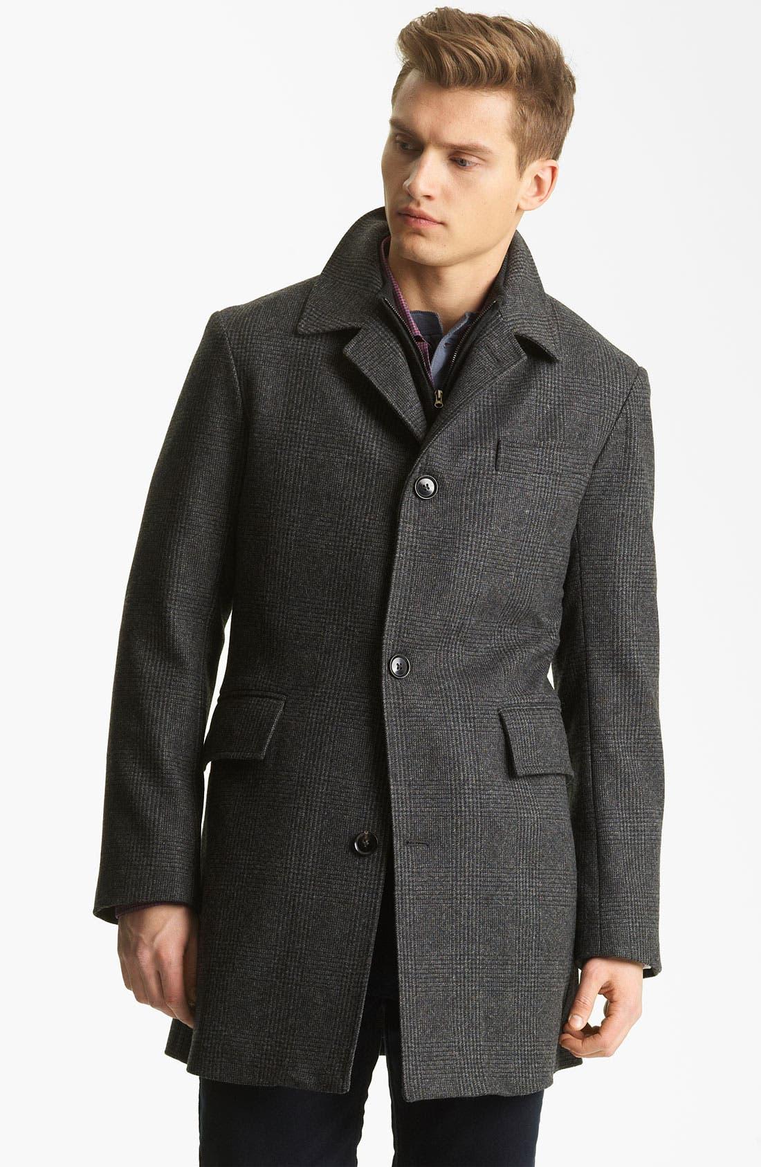 Alternate Image 1 Selected - Billy Reid 'Sunday' Plaid Wool Coat