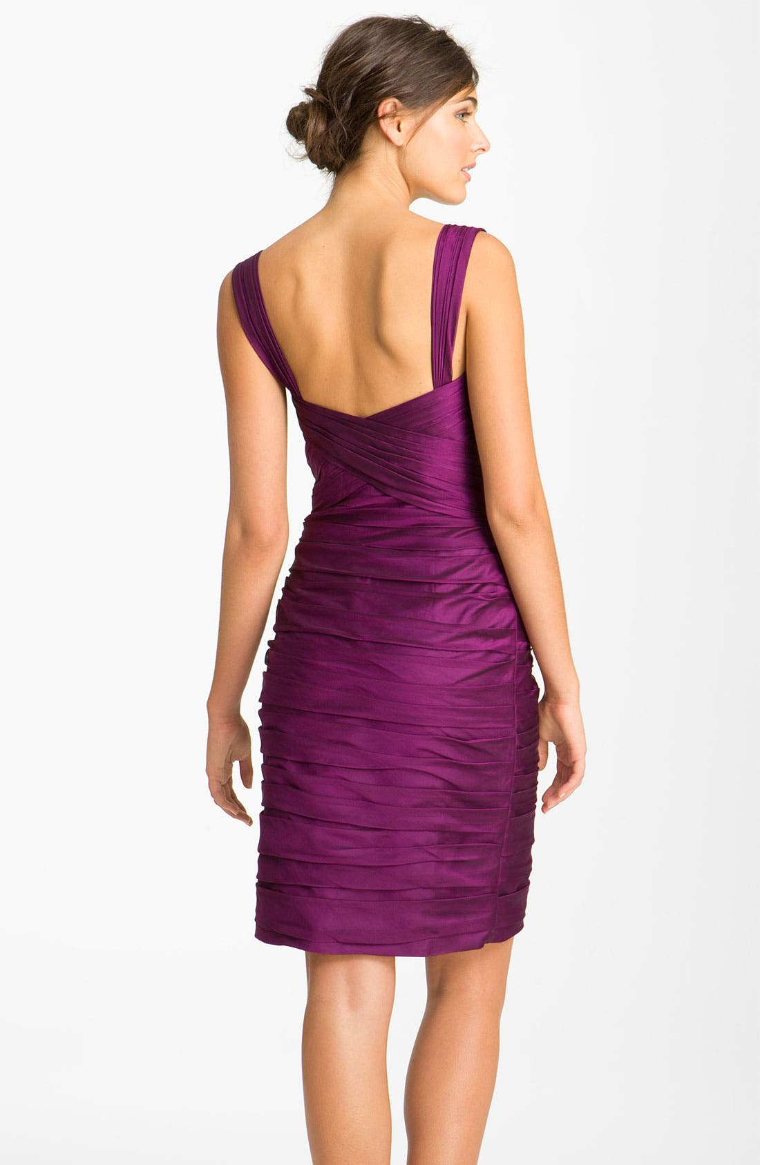 Alternate Image 2  - ML Monique Lhuillier Bridesmaids Pleated Sweetheart Chiffon Dress (Nordstrom Exclusive)
