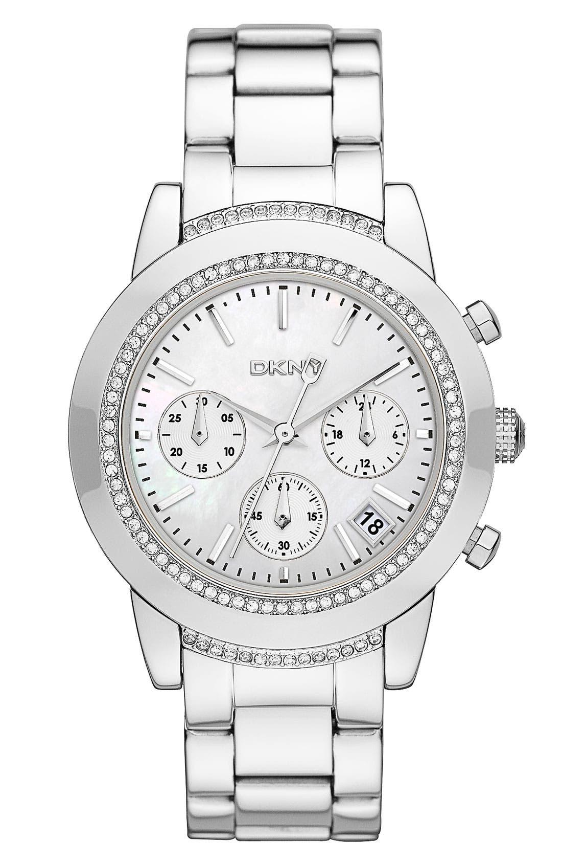 Alternate Image 1 Selected - DKNY 'Street Smart - Medium' Chronograph Watch