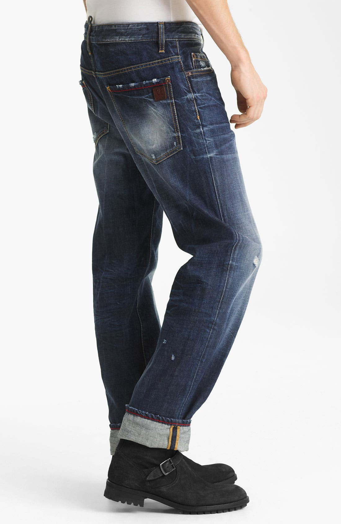 Alternate Image 3  - Dsquared2 'Dean' Straight Leg Jeans (Blue Wash)