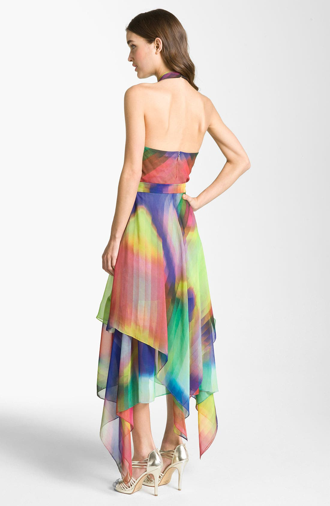 Alternate Image 2  - Suzi Chin for Maggy Boutique Print Halter Dress