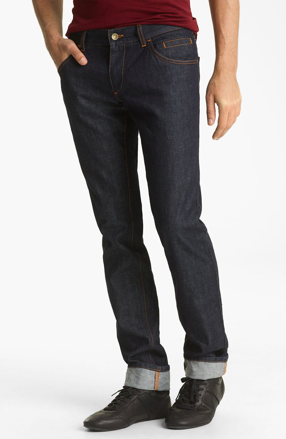 Alternate Image 2  - Dolce&Gabbana Slim Straight Leg Jeans (Medium Grey Wash)