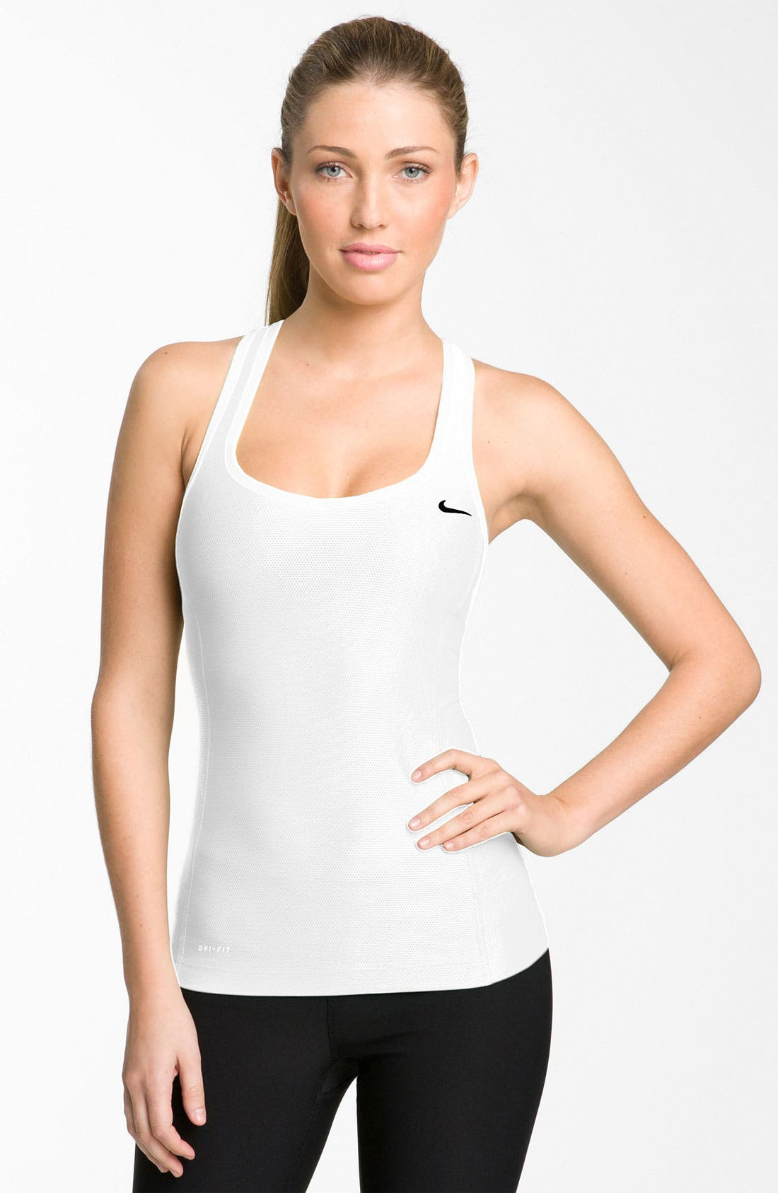 Alternate Image 1 Selected - Nike 'Victory' Long Bra Top