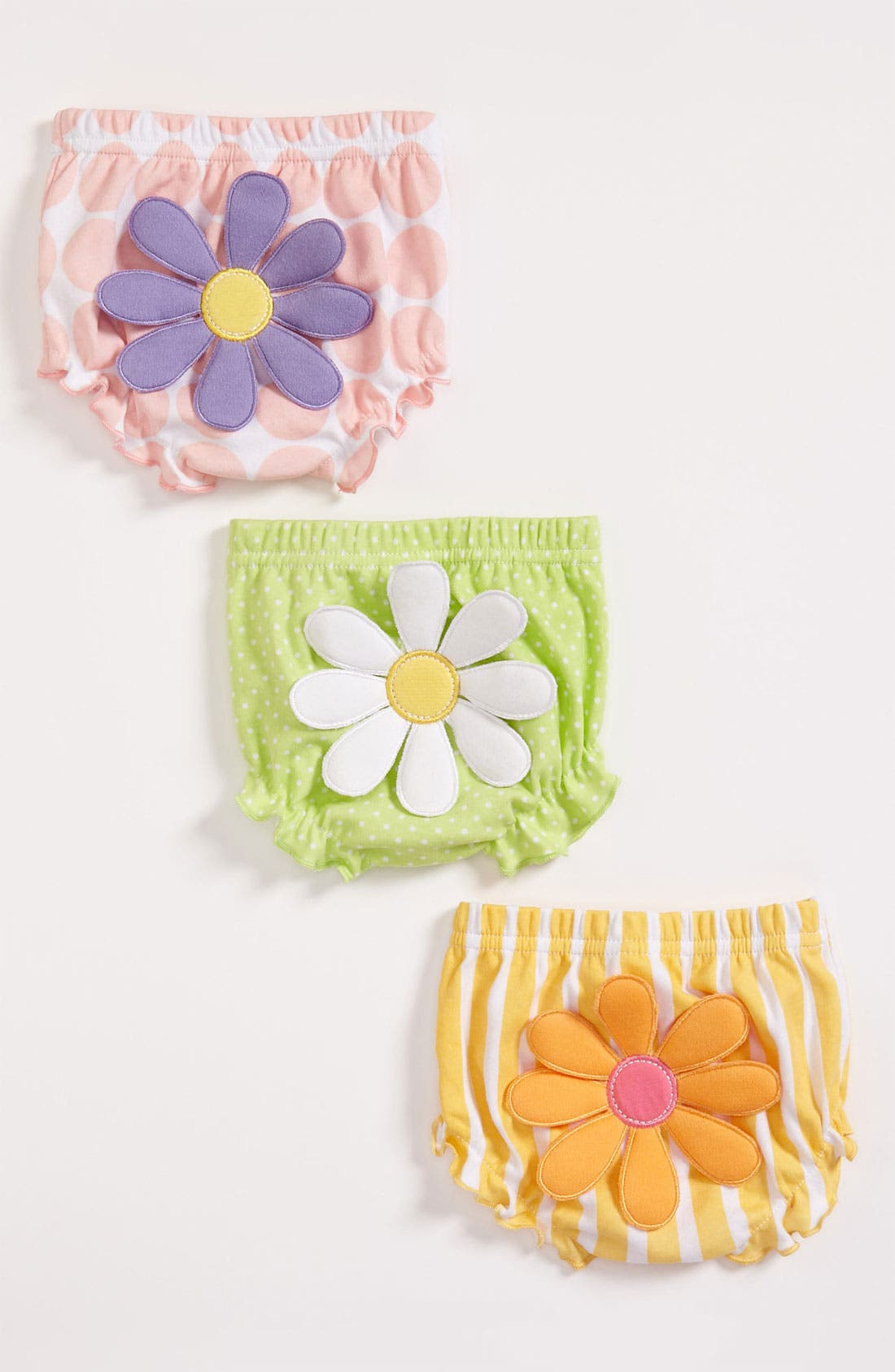 Alternate Image 1 Selected - Baby Aspen 'Bunch O' Bloomers' Diaper Covers (3-Pack) (Baby)