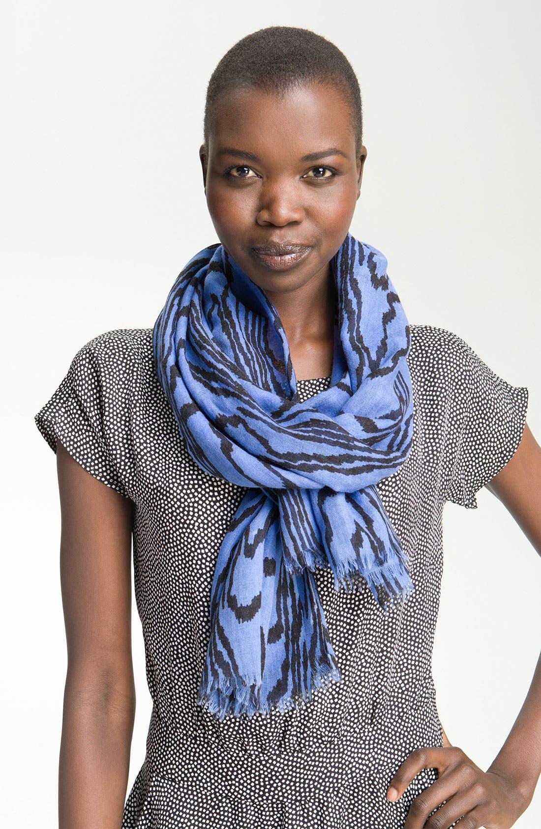 Alternate Image 1 Selected - Kelly Wearstler 'Marquetry' Silk & Wool Scarf