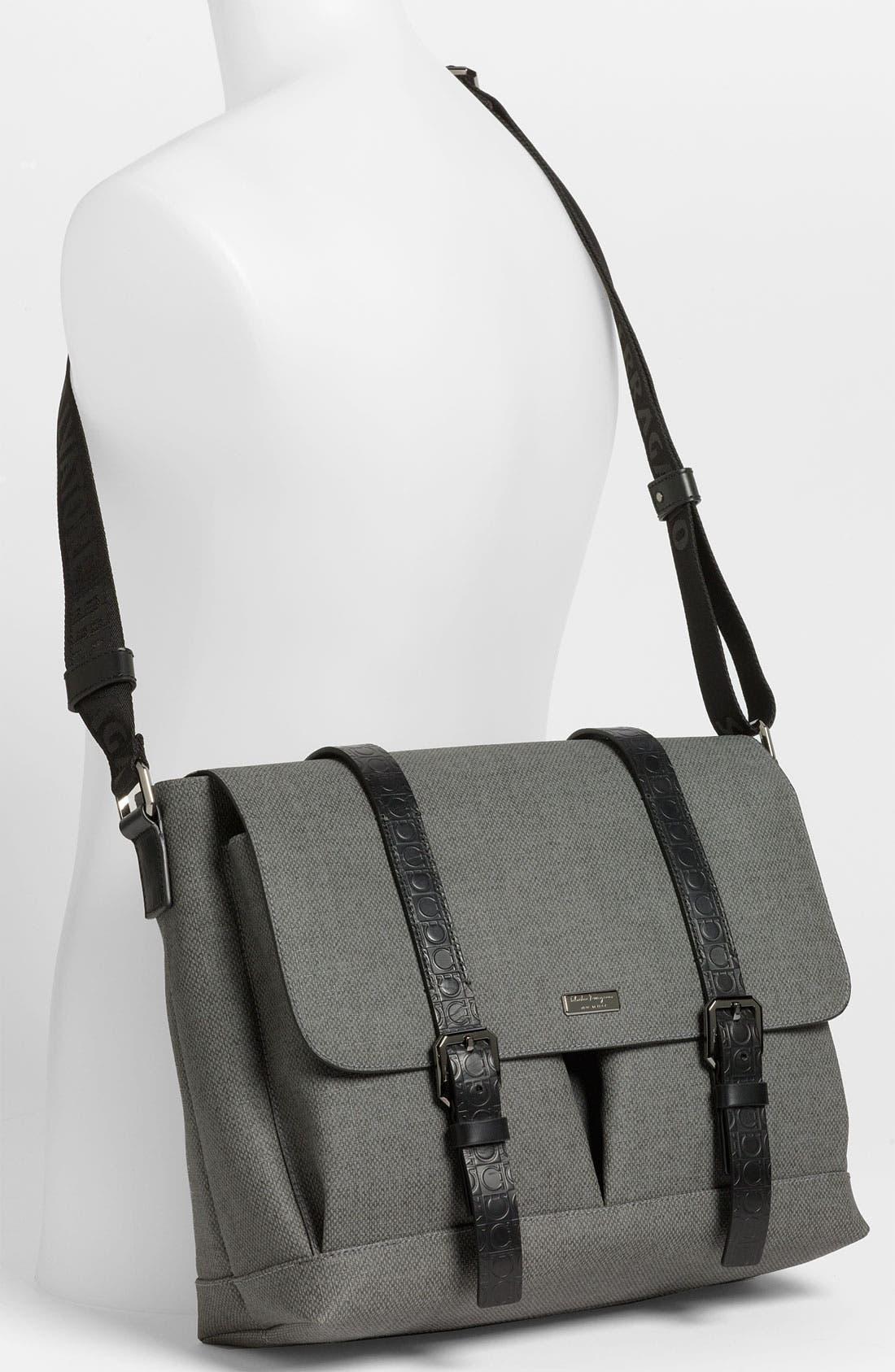 Alternate Image 4  - Salvatore Ferragamo 'New Form' Messenger Bag