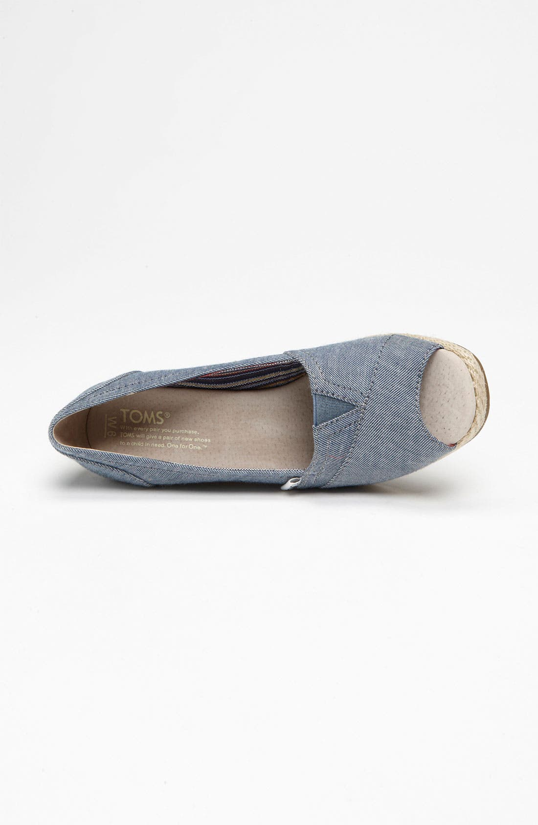 Alternate Image 3  - TOMS 'Seren' Chambray Wedge (Women)