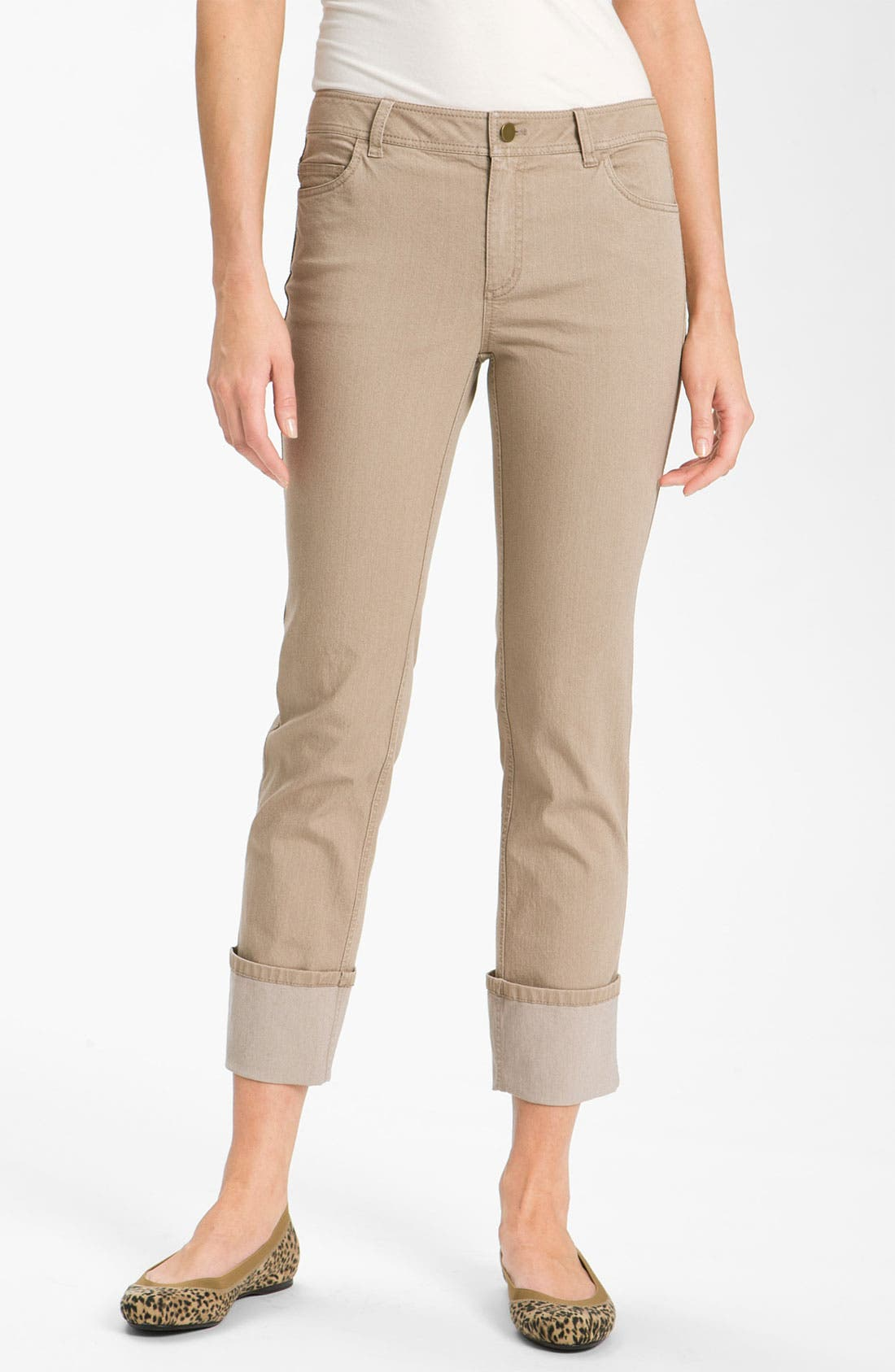 Alternate Image 1 Selected - Lafayette 148 New York Cuff Crop Jeans