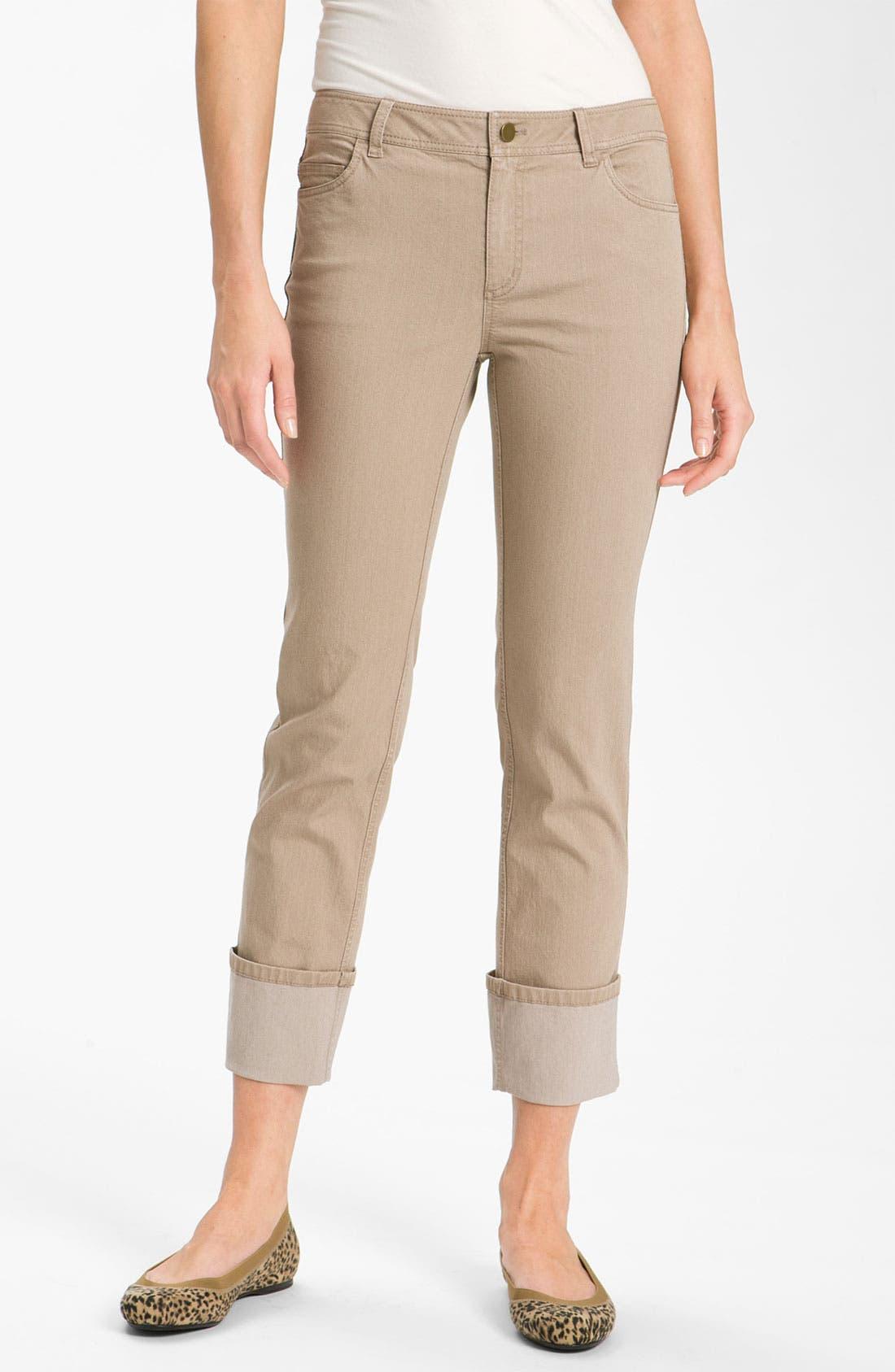 Main Image - Lafayette 148 New York Cuff Crop Jeans