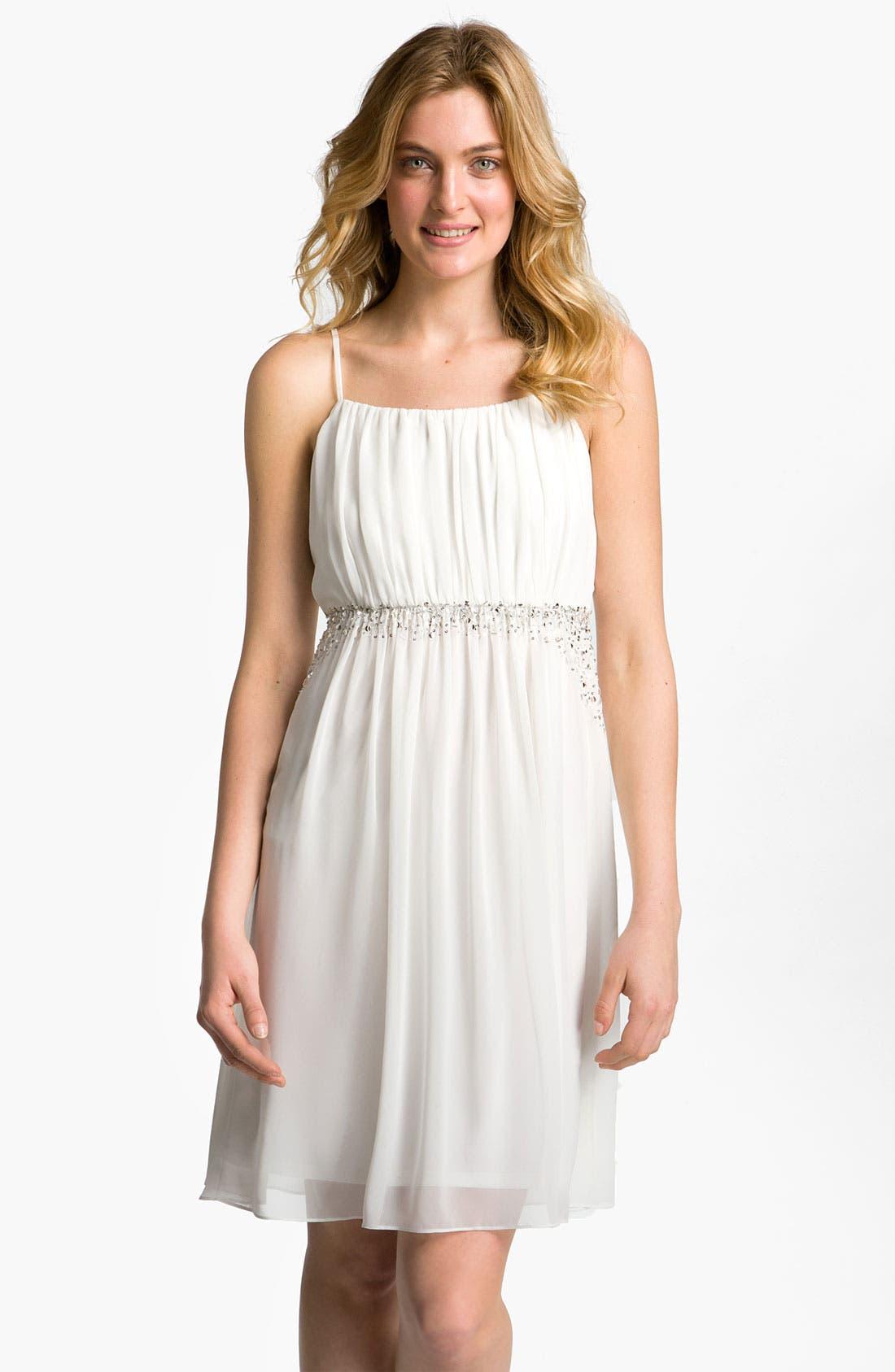 Alternate Image 1 Selected - Calvin Klein Embellished Chiffon Dress