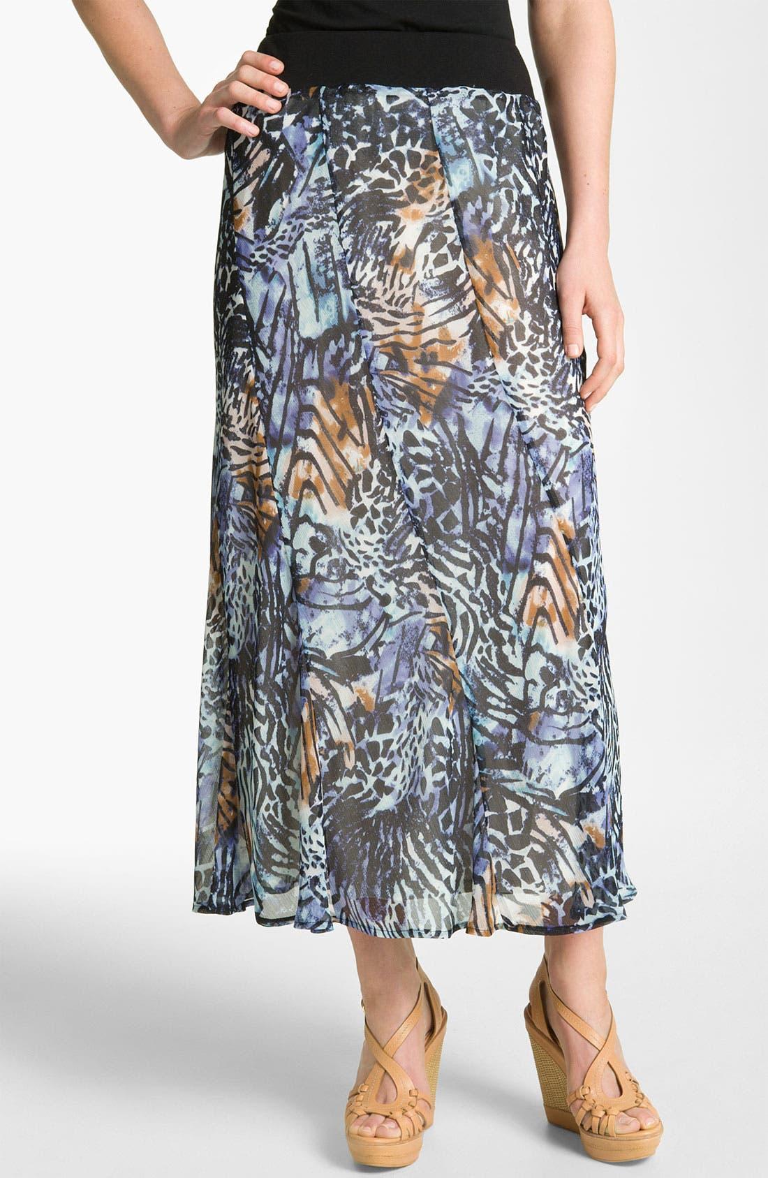 Alternate Image 1 Selected - Nic + Zoe 'Pattern Play' Print Maxi Skirt