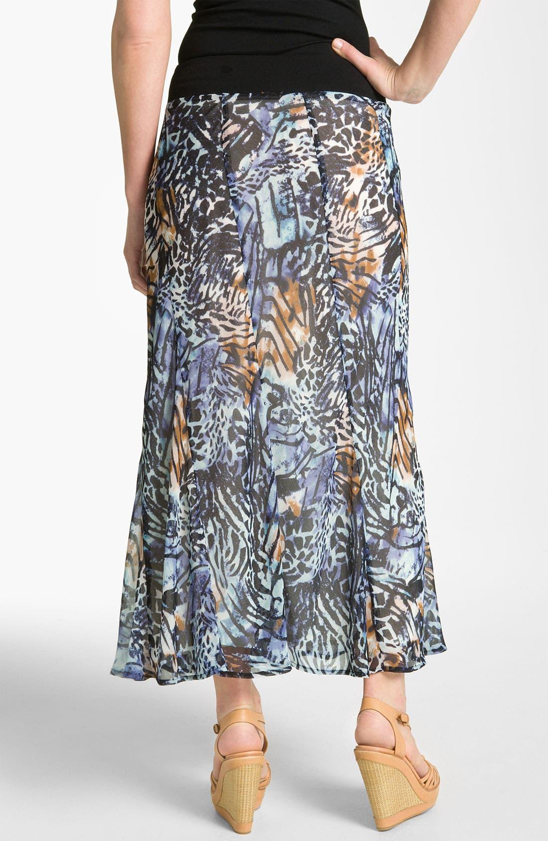 Alternate Image 2  - Nic + Zoe 'Pattern Play' Print Maxi Skirt