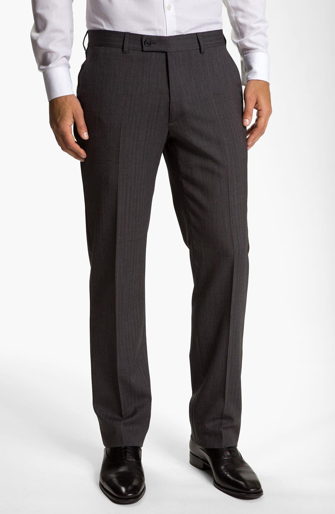 Alternate Image 1 Selected - John Varvatos Star USA Herringbone Trousers