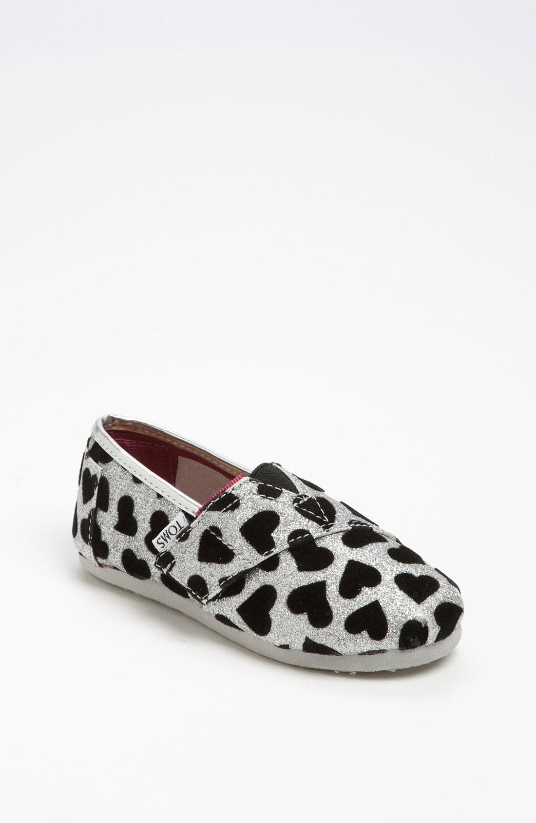 Main Image - TOMS 'Classic Tiny - Hearts' Slip-On (Baby, Walker & Toddler)