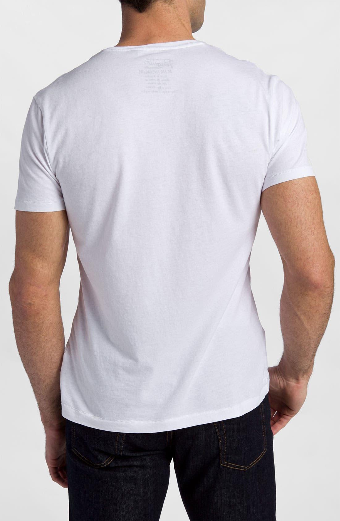 Alternate Image 2  - Original Penguin 'Script' V-Neck Graphic T-Shirt
