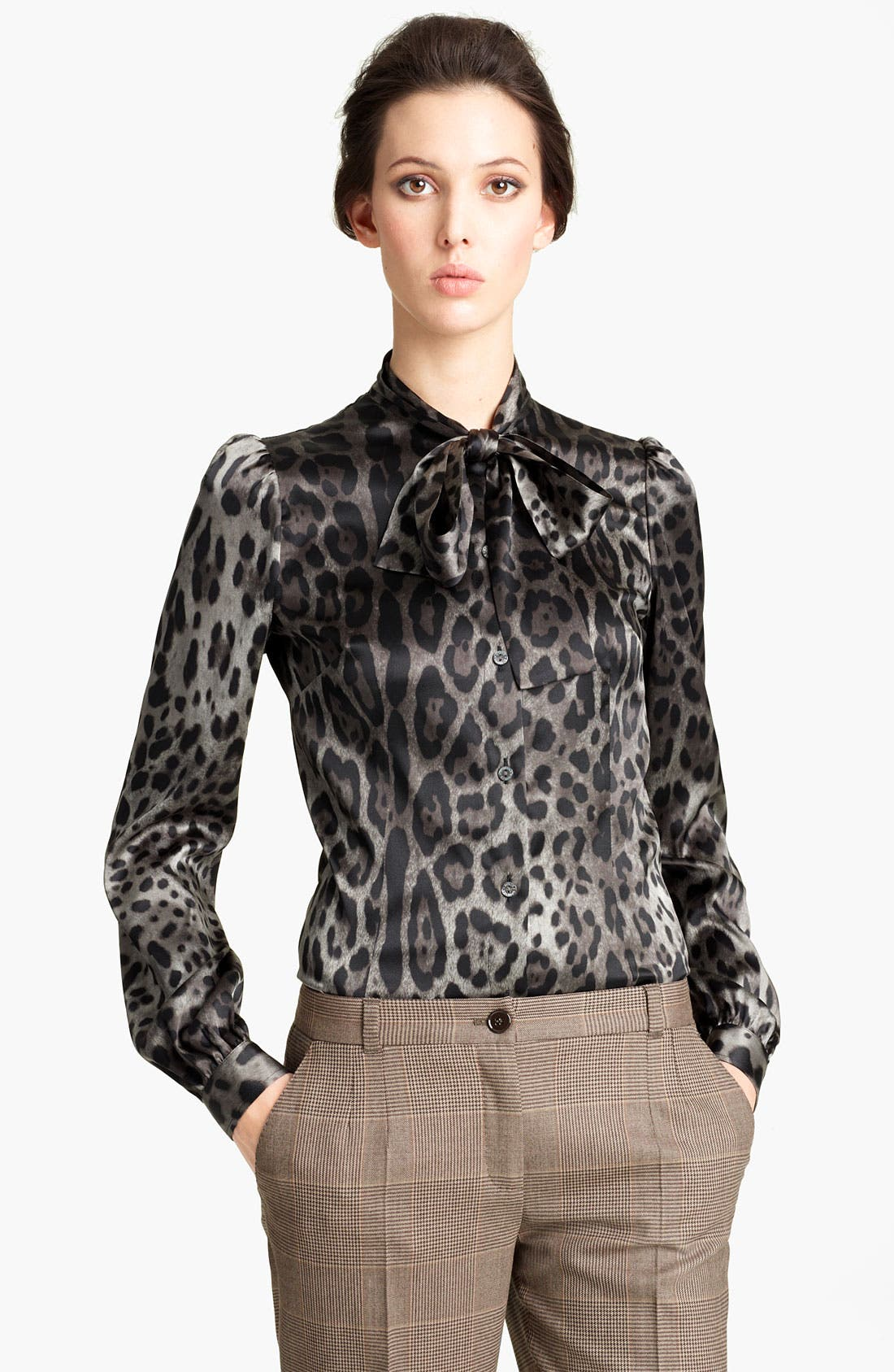 Alternate Image 1 Selected - Dolce&Gabbana Stretch Satin Blouse