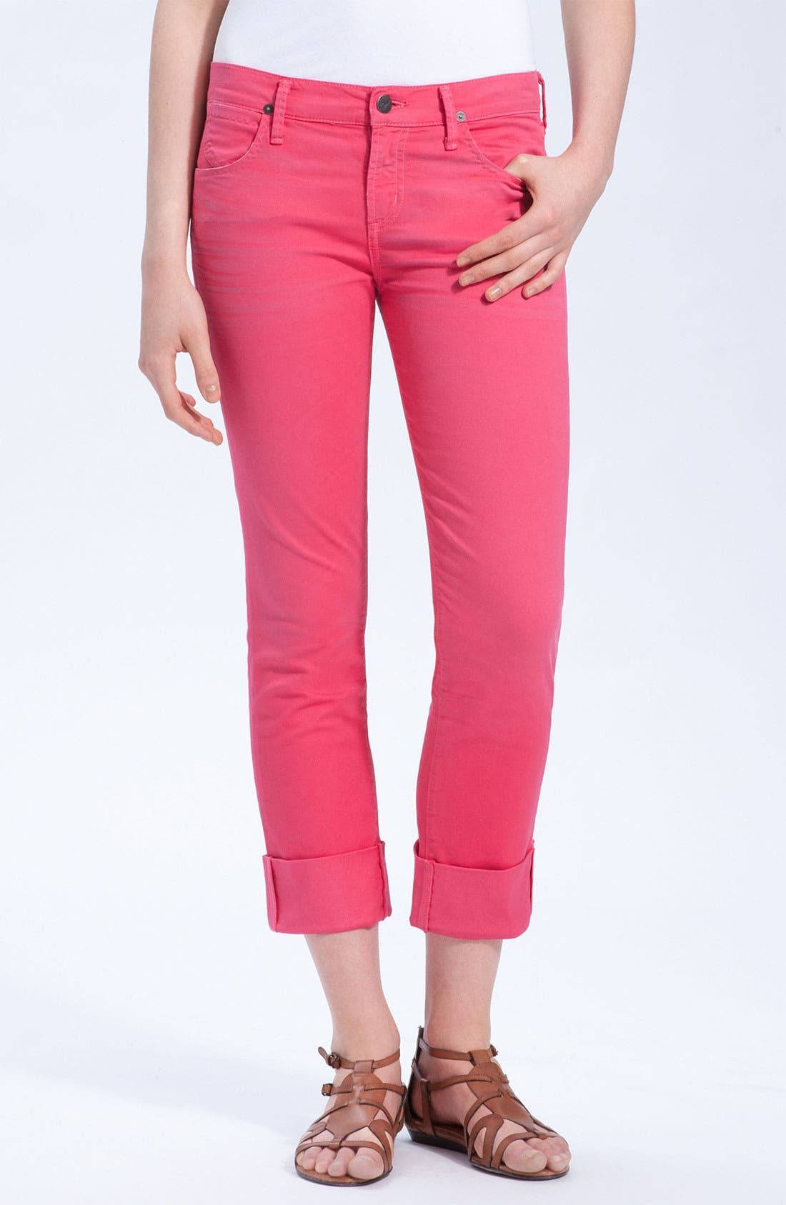 Alternate Image 2  - Citizens of Humanity 'Dani' Colored Denim Skinny Leg Crop Jeans (Shocking Pink)