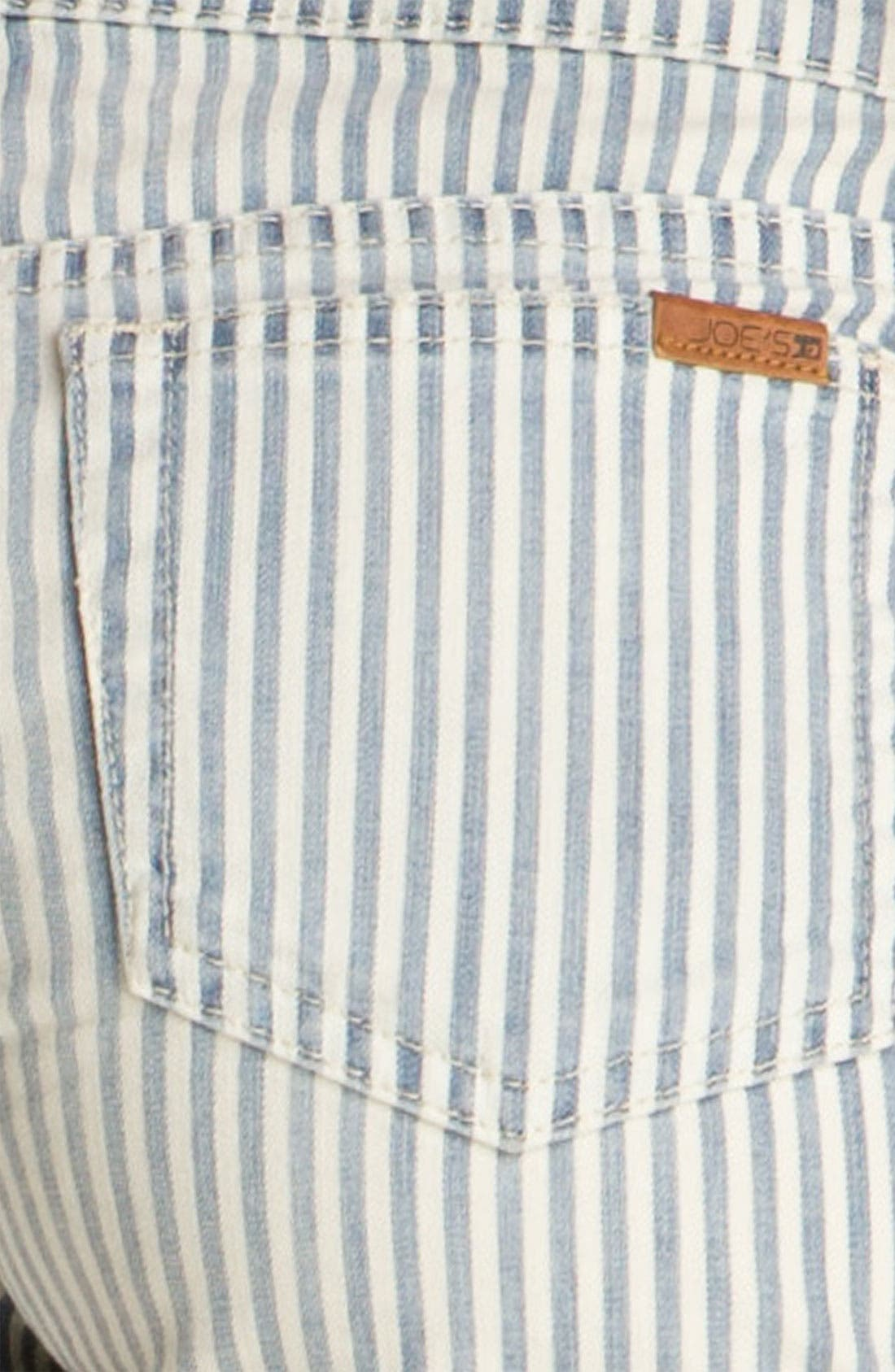Alternate Image 3  - Joe's Cutoff Denim Shorts (Connie Stripe)