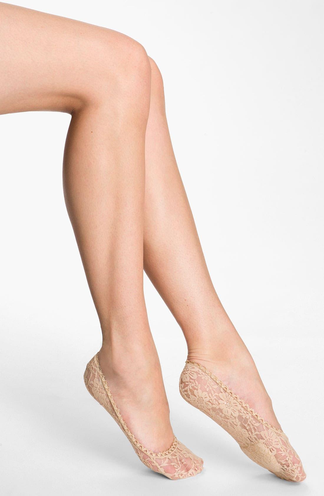 Alternate Image 1 Selected - Nordstrom No Show Lace Liner Socks