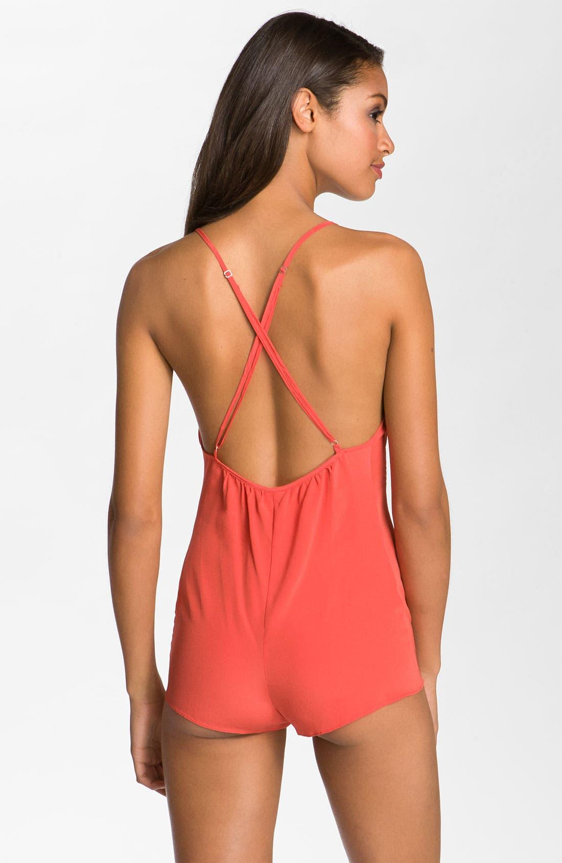 Alternate Image 2  - Zinke 'XOXO' Silk Romper Pajamas