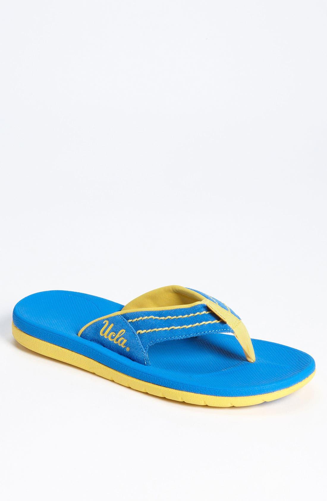 Alternate Image 1 Selected - Rainbow 'Collegiate - UCLA Bruins' Flip Flop (Men)