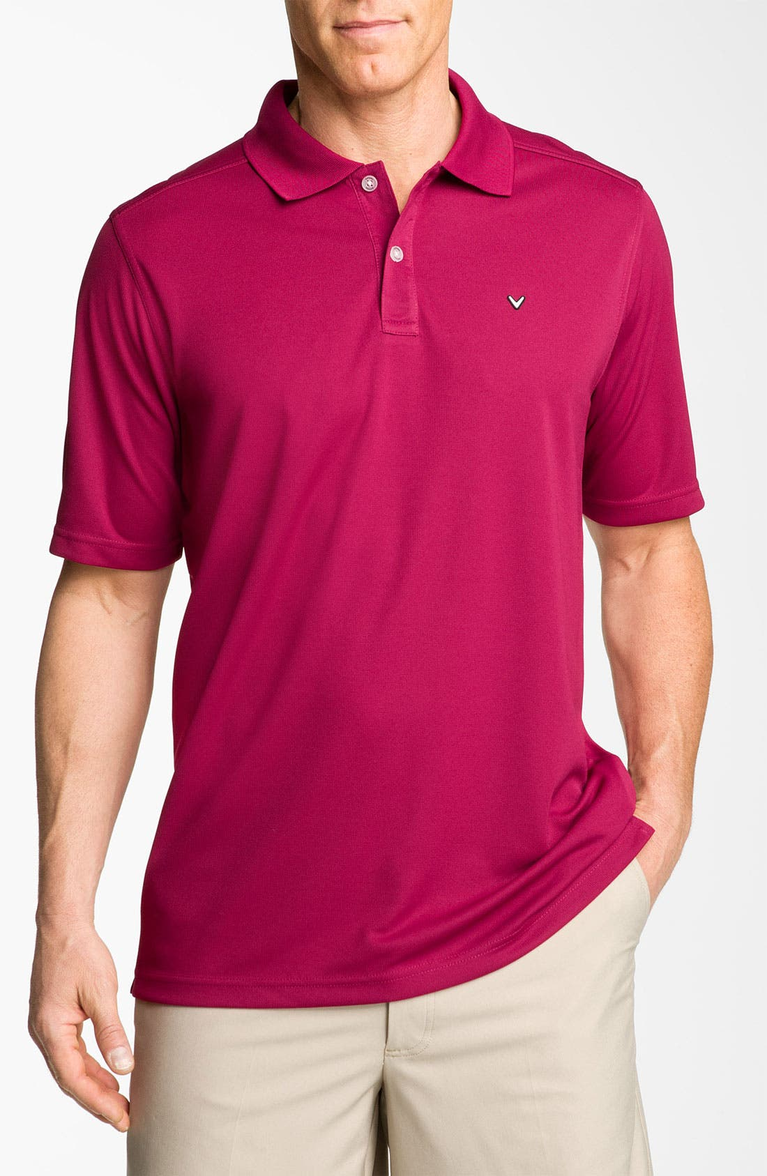 Alternate Image 1 Selected - SS POLY POLO WITH EM
