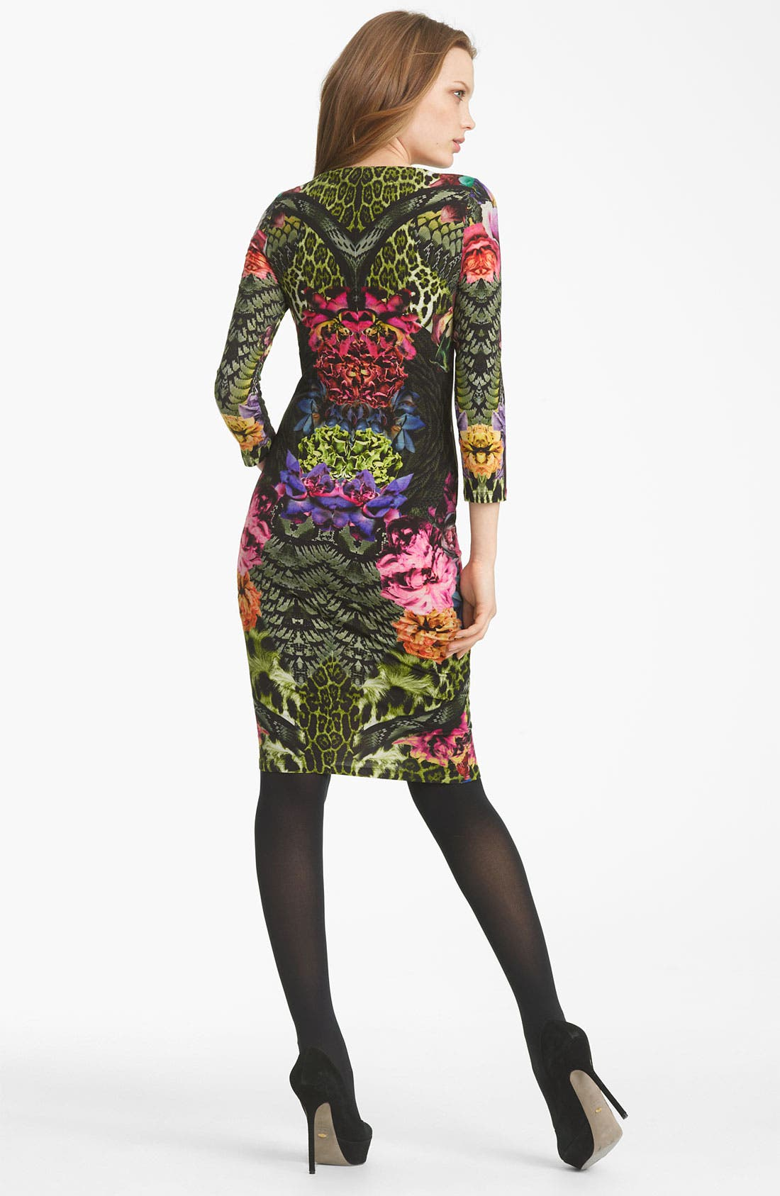 Alternate Image 2  - Roberto Cavalli Flower Print Jersey Dress