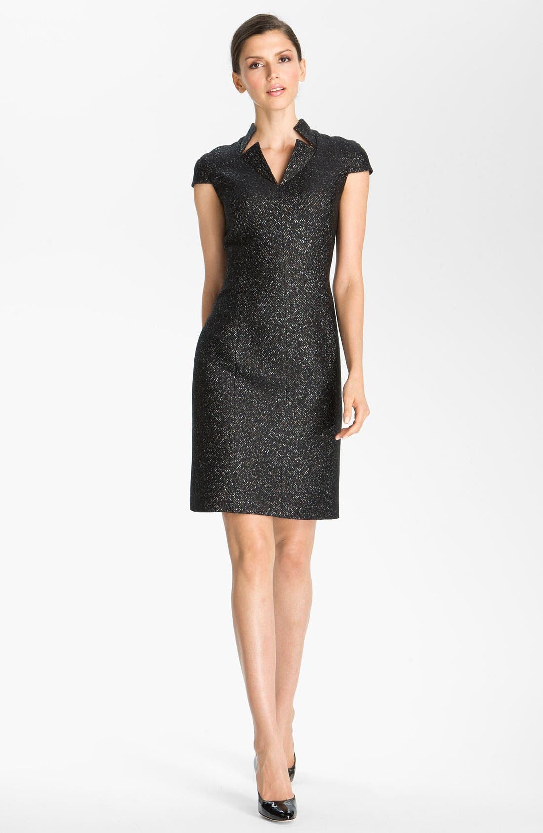 Main Image - St. John Collection Chevron Jacquard Dress