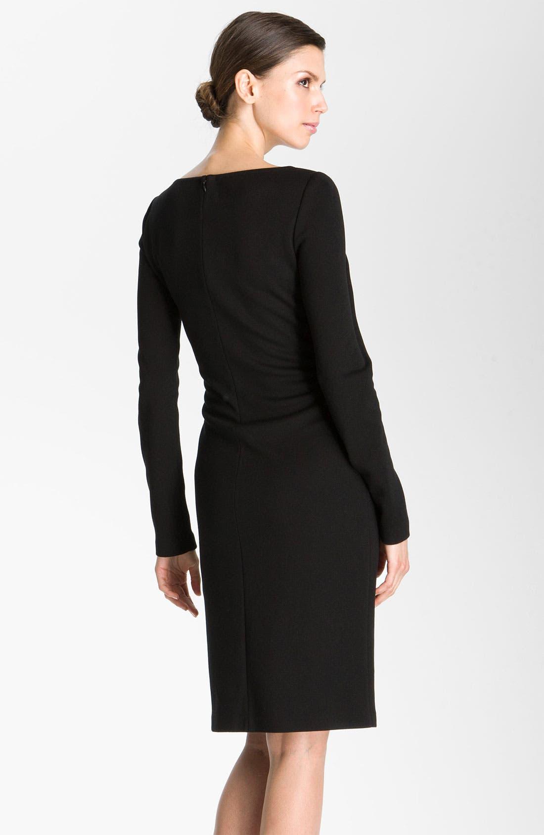Alternate Image 2  - St. John Collection Milano Knit Faux Wrap Dress