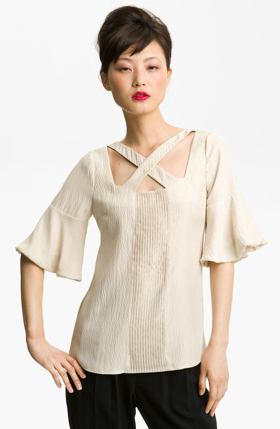 Alternate Image 1 Selected - Tracy Reese Hammered Silk Blouse