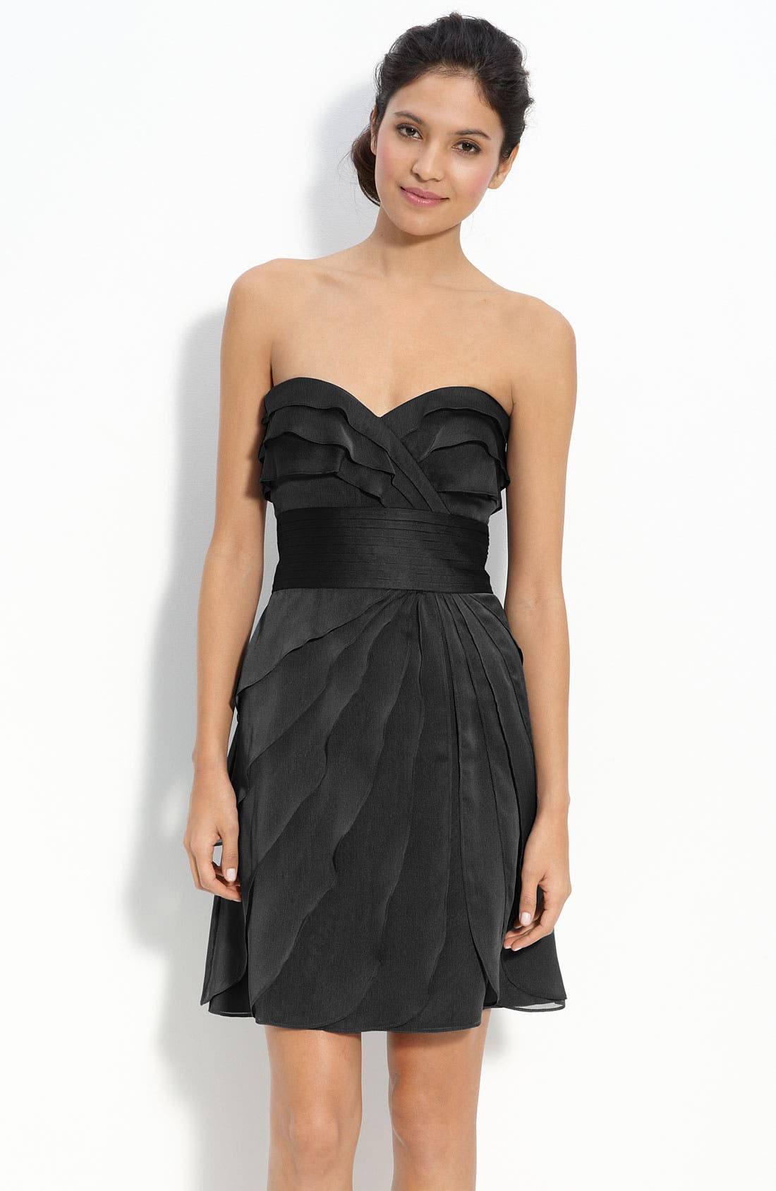 Alternate Image 1 Selected - Adrianna Papell Tiered Iridescent Chiffon Dress (Petite)