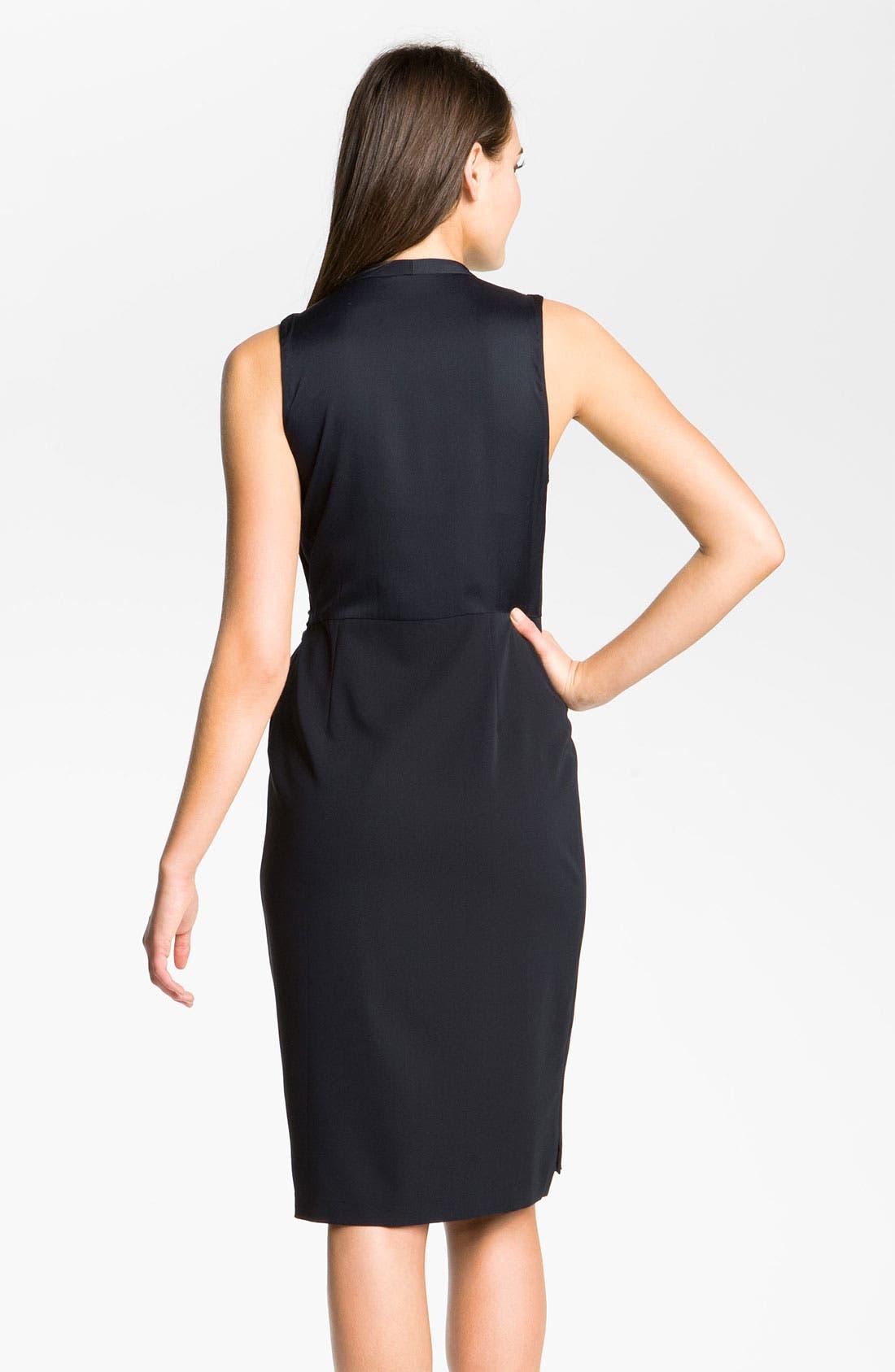 Alternate Image 2  - Elie Tahari 'Savannah' Sleeveless Crêpe de Chine Faux Wrap Dress