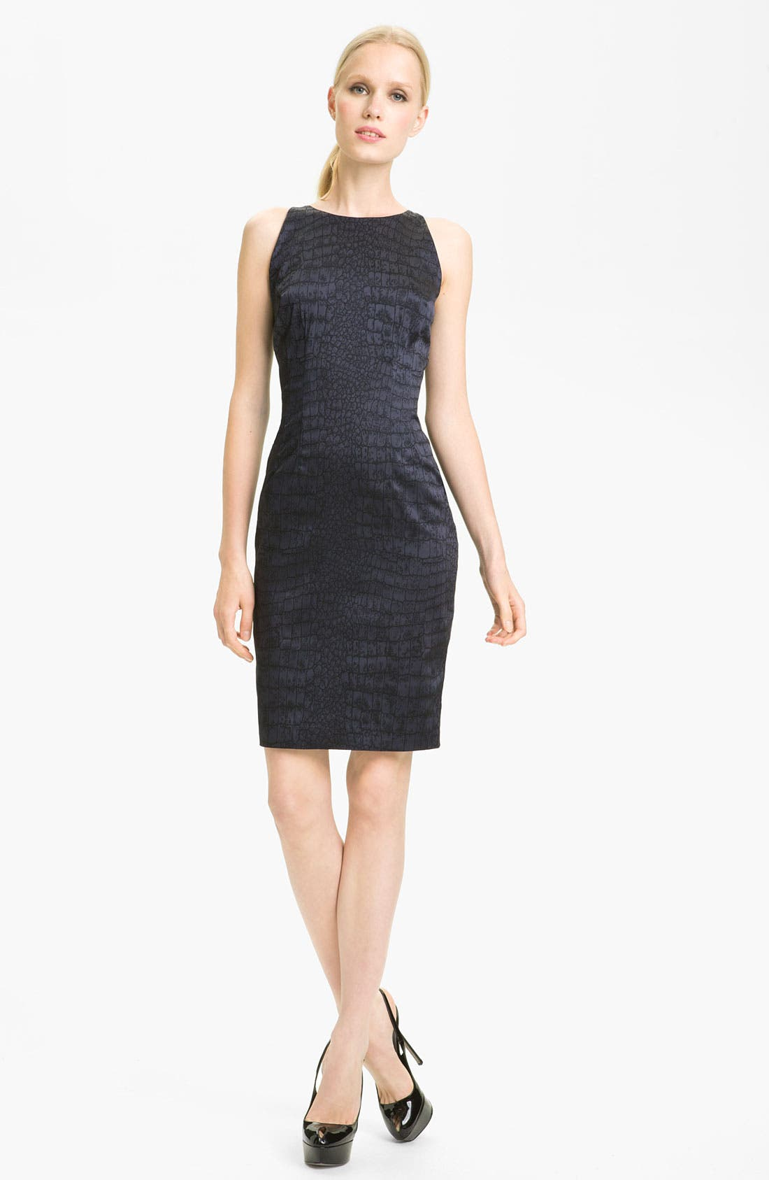Main Image - Jay Godfrey 'Naomi' Jacquard Sheath Dress (Nordstrom Exclusive)